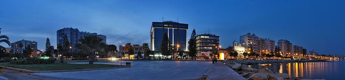 Limassol night panorama