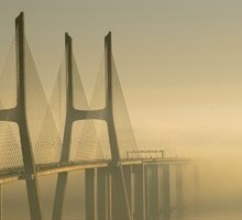 Vasco da Gama Bridge. Lisbon, Portugal